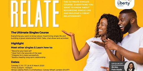 Relate: The Ultimate Singles Course tickets