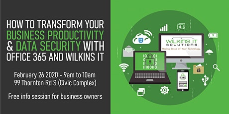 How to Transform your Business Productivity & Data Security tickets