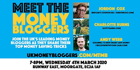 Meet the Money Bloggers: Money saving tricks tickets