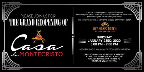 GRAND REOPENING PARTY!  Casa de Montecristo Houston 1960 tickets