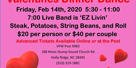 Valentines Dinner Dance tickets