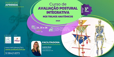 Curso Avaliação Postural Integrativa nos Trilhos Anatômicos - 3ª ed - Caxias do Sul/RS ingressos