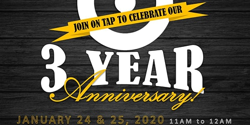 On Tap 3 Year Anniversary VIP Experience