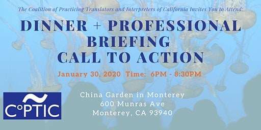 Dinner + Professional Briefing and Call to Action