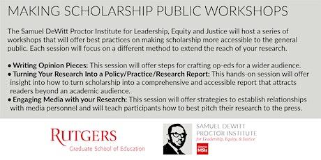 Making Scholarship Public Workshop Series tickets