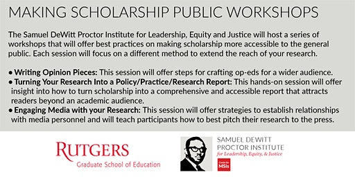 Making Scholarship Public Workshop Series