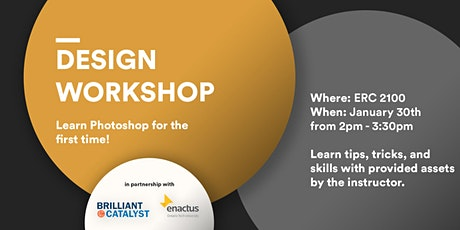 Design Workshop:  Learn Photoshop for the first time! tickets