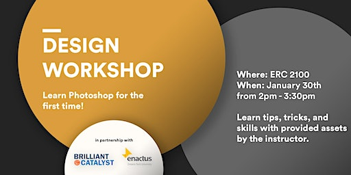Design Workshop:  Learn Photoshop for the first time!