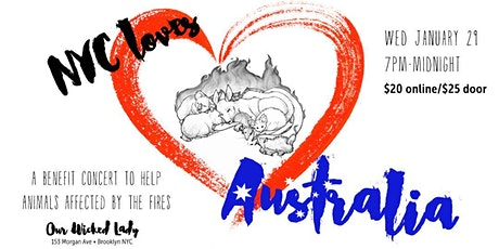 NYC Loves Australia:  A Benefit Concert 2 help animals affected by the fire tickets