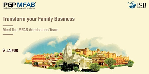 ISB (PGPMFAB)Family Business Coffee Meet at | Jaipur