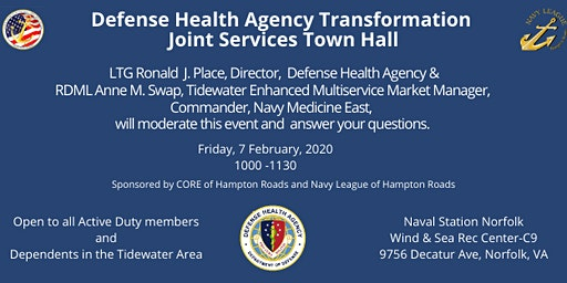 Defense Health Agency Transformation Joint Services Town Hall