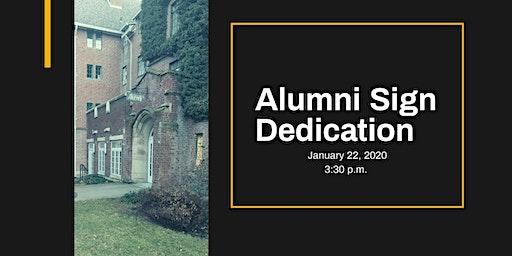 Alumni Sign Dedication