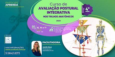 Curso Avaliação Postural Integrativa nos Trilhos Anatômicos - 4ª ed - PoA/RS ingressos