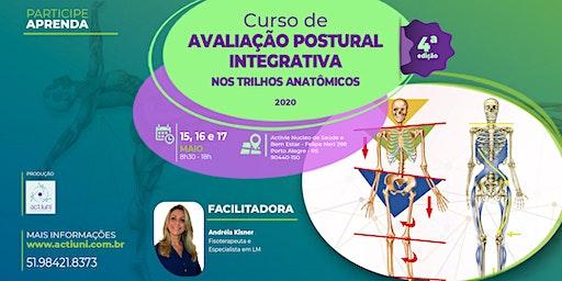 Curso Avaliação Postural Integrativa nos Trilhos Anatômicos - 4ª ed - PoA/RS