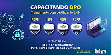 CERTIFICAÇÃO EXIN CAPACITAÇÃO DPO / LGPD | JANEIRO ingressos