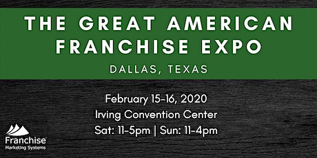 The Great American Franchise Expo: Dallas, TX tickets
