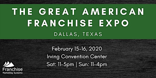 The Great American Franchise Expo: Dallas, TX