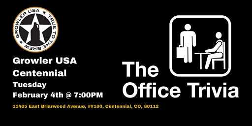 The Office Trivia at Growler USA Centennial