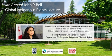 4th Annual John P. Bell Global Indigenous Rights Lecture tickets
