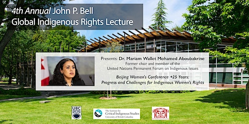 4th Annual John P. Bell Global Indigenous Rights Lecture