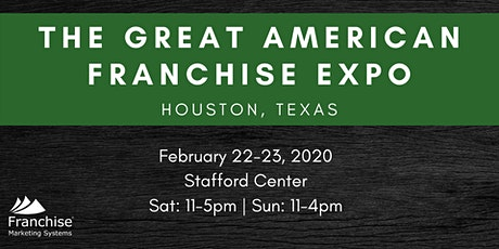 The Great American Franchise Expo: Houston, TX tickets
