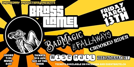 BRASS CAMEL's Bad Luck Bash feat BAD MAGIC & THE FALLAWAYS tickets