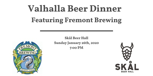 Valhalla Beer Dinner Series with Fremont Brewing