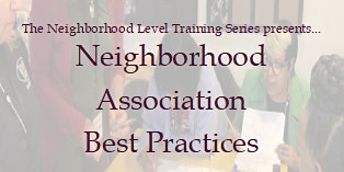 Neighborhood Association Best Practices