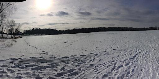 Snowshoeing at Lake Ann Feb Fest 2020