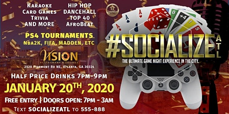 #SocializeATL - GAME NIGHT! tickets