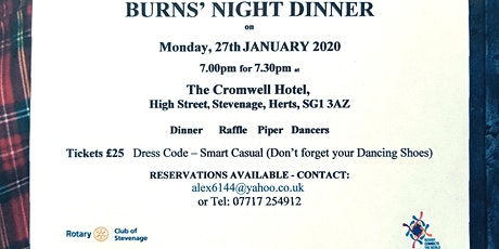 Burns Night Hits Stevenage tickets