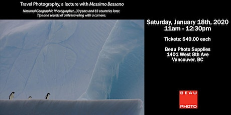 Travel Photography with National Geographic Photographer Massimo Bassano tickets