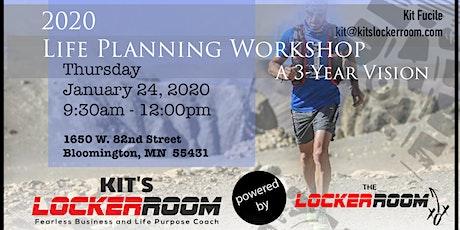 2020 Life Planning Workshop: Three Year Vision tickets