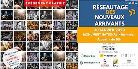 """Réseautage de bienvenue """"nouveaux arrivants à Montréal"""" -  30 janvier billets"""