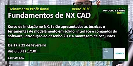 Treinamento de Fundamentos de NX CAD - EAD tickets
