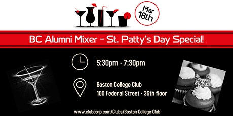 BC Alumni Mixer St. Patty's Day Special at the Boston College Club tickets