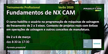 Treinamento de Fundamentos de NX CAM - Presencial ingressos