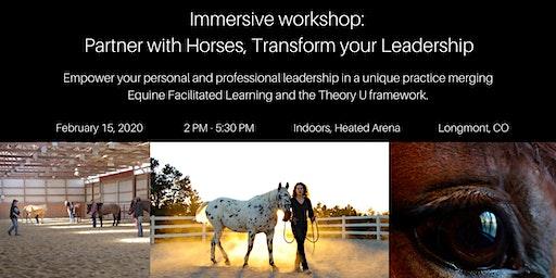Immersive workshop: Partner with Horses, Transform your Leadership