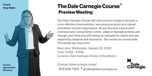 Dale Carnegie Course® - Preview Meeting (Mississauga)