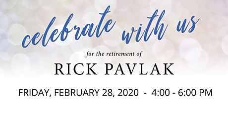 Retirement Celebration for Rick Pavlak tickets
