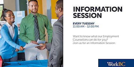 West Kelowna Info Sessions tickets