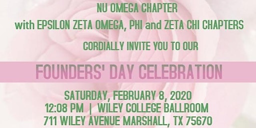 Founders' Day 2020 East Texas - Nu Omega