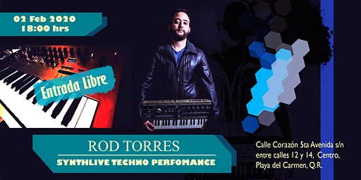 ROD TORRES - SYNTHLIVE TECHNO  PERFORMANCE en CALLE CORAZÓN