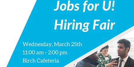 Jobs for U! Hiring Fair tickets