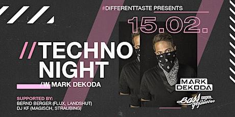 Techno Night /w Mark Dekoda // 15.02.2020 Tickets