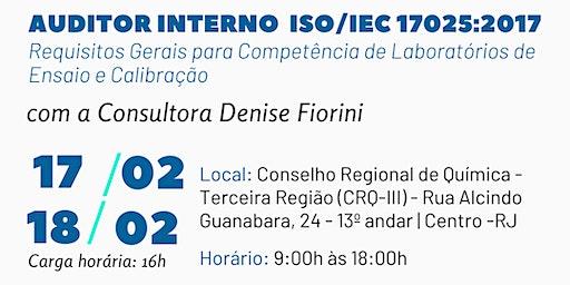 Formação de Auditor Interno em ISO/IEC 17025:2017