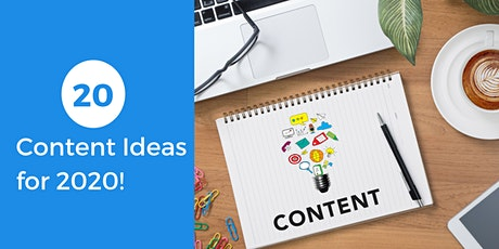 20 Content Ideas for 2020 tickets