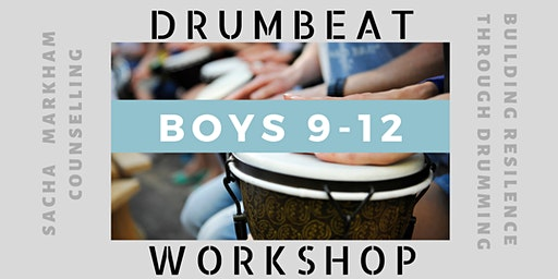 Boys DRUMBEAT Workshop 9-12 years of age