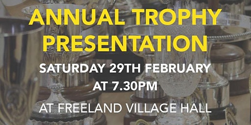 Annual Trophy Presentation Evening