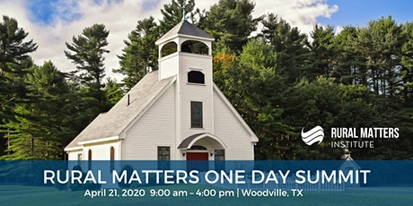 Cancelled: Rural Matters One-Day Summit - Woodville, TX tickets